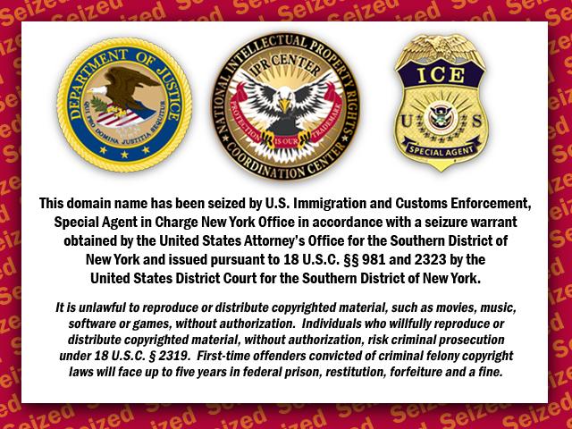 Seized Notice